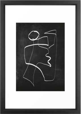 Abstract line art 6/2 Framed Art Print - Society6