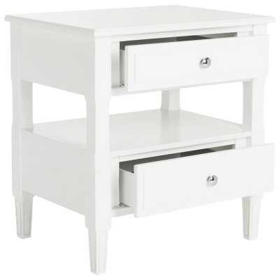 Jerry 2 - Drawer Solid Wood Nightstand / White - Wayfair