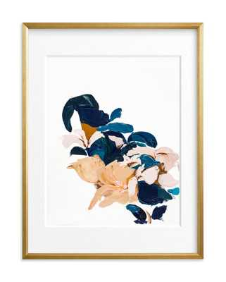 "Abstract Botanical  Art Print byCaryn Owen, 18"" x 24"", Gilded Wood Frame/Matted - Minted"