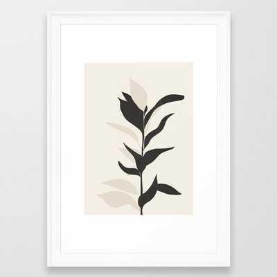 Abstract Minimal Plant Framed Art Print - Society6
