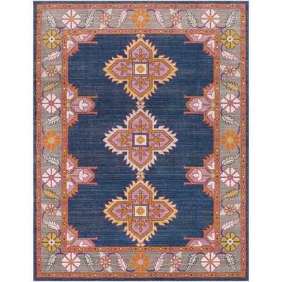Arteaga Navy/Blue/Orange/Pink/Gray Area Rug - AllModern