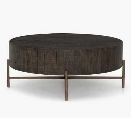 "Fargo 40"" Round Reclaimed Wood Coffee Table - Pottery Barn"