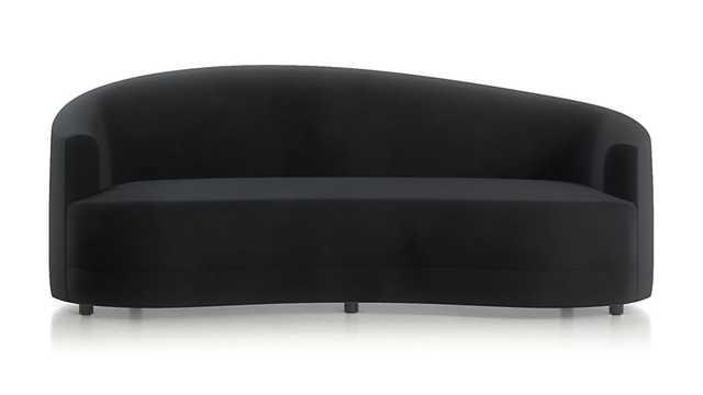 Infiniti Curve Back Sofa - Black - Crate and Barrel