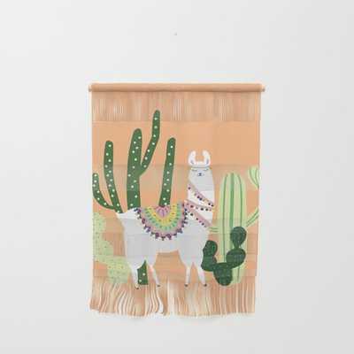 Cute Llama with Cactus Wall Hanging by Majchila - Society6