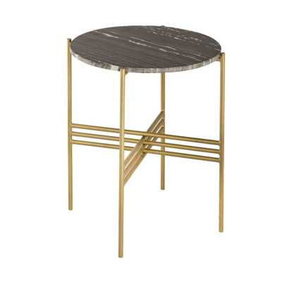 Jenna Black Marble Side Table - Maren Home