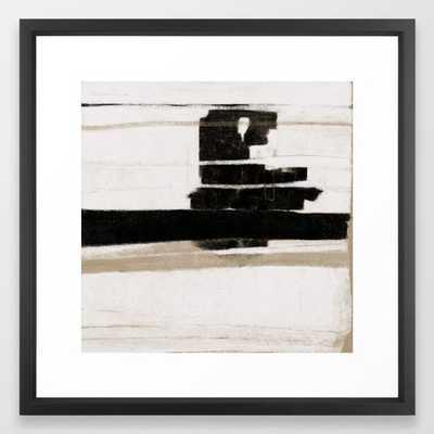UNTITLED #6 - FRAMED ART PRINT VECTOR BLACK large (GALLERY) - Society6