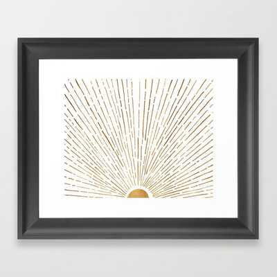 Let The Sunshine In - Vector Black Frame - Society6