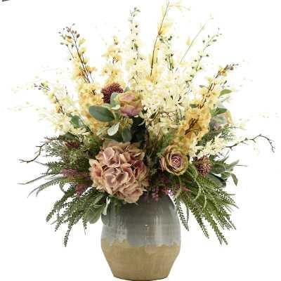 Mixed Floral Arrangement in Pot - Wayfair