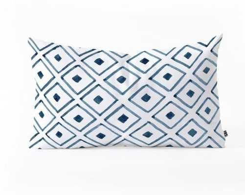 Indigo Ascot  Pillow - With Insert - Wander Print Co.