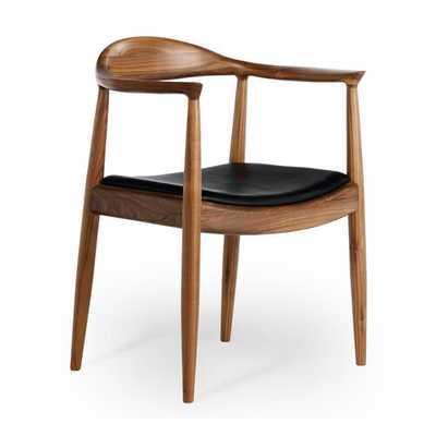 Gravitt Genuine Leather Upholstered Dining Chair - Wayfair