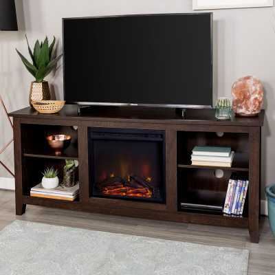 Sunbury TV Stand for TVs up to 60 inches with Fireplace Included - Wayfair