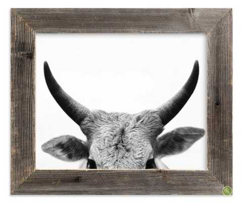 Jane Gallagher with Reclaimed Barn Wood Frame - Minted
