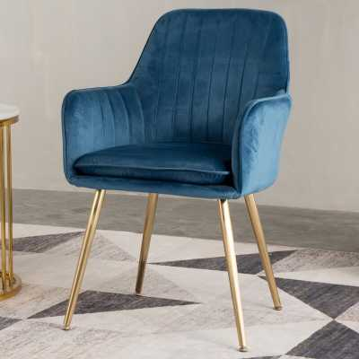 Galen Upholstered Dining Chair, Blue - Wayfair