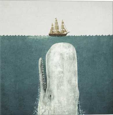 Icanvas 'White Whale Square - Terry Fan' Giclee Print Canvas Art, Size 26 x 26 - Grey - Nordstrom