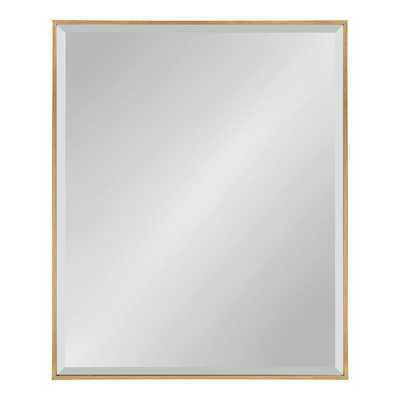 """Logsdon Traditional Beveled Accent Mirror - GOLD - 36.5"""" H x 24.5"""" W - Wayfair"""
