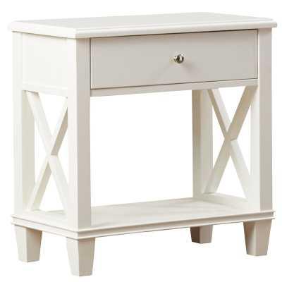 Flintridge End Table with Storage / White - Wayfair