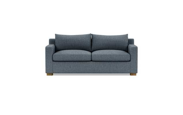 Custom Sloan Sleeper Sofa in Cross Weave Rain (Kid & Pet Friendly) with Natural Oak Block Legs - Interior Define