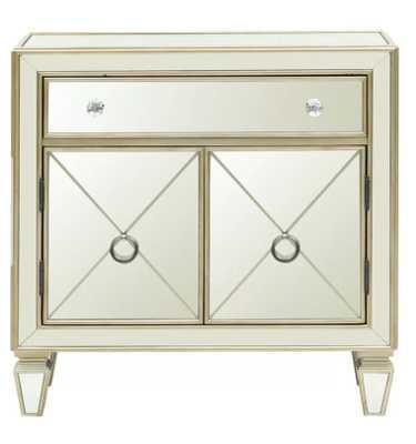 Farah Mirrored 2 Door Accent Cabinet - Wayfair