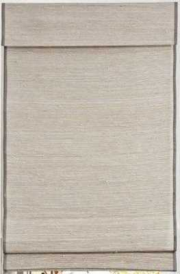 "Custom Home Collection Designer Woven Wood Shade -24"" x 60"" -Kula Coconut LIJU004- cordless - Home Depot"