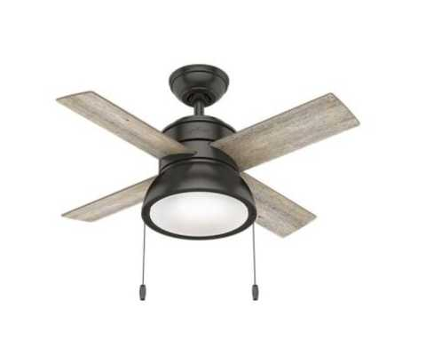 Loki 36 in. Integrated LED Indoor Noble Bronze Ceiling Fan with Light Kit - Home Depot