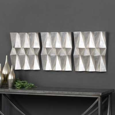 MAXTON METAL WALL DECOR, S/3 - Hudsonhill Foundry