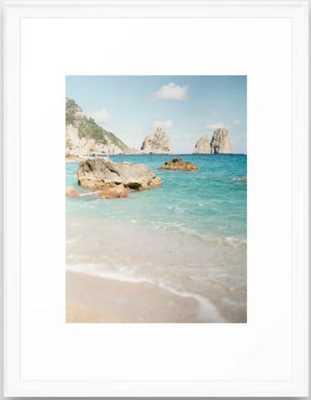 "Capri Beach Frame Art Print - Vector White Frame, 20"" x 26"" - Society6"
