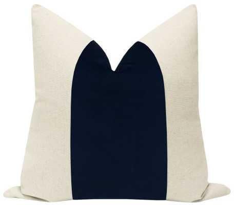 "PANEL :: Signature Velvet // Navy - 20"" X 20"" - Little Design Company"