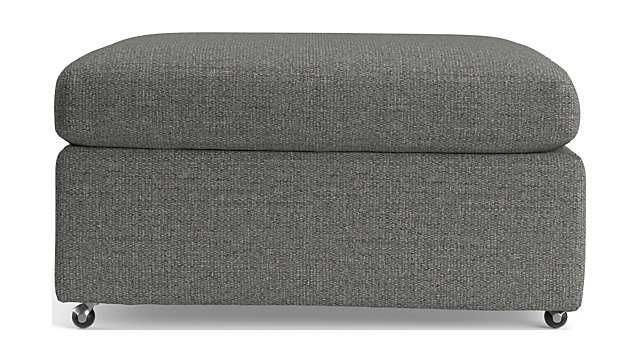 """Lounge II 32"""" Ottoman with Casters - Taft Steel - Crate and Barrel"""
