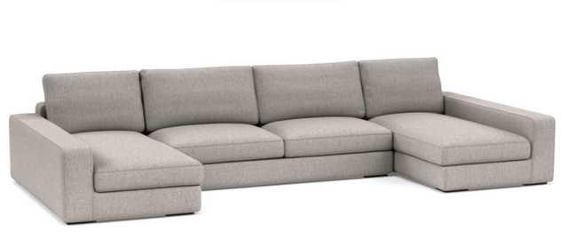 Ainsley U-Sectional Sofa / Earth Cross Weave - Interior Define