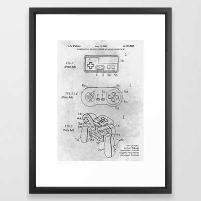 Game controller Framed Art Print - Society6