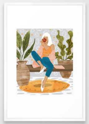 Boss Lady #illustration #painting Framed Art Print - Society6