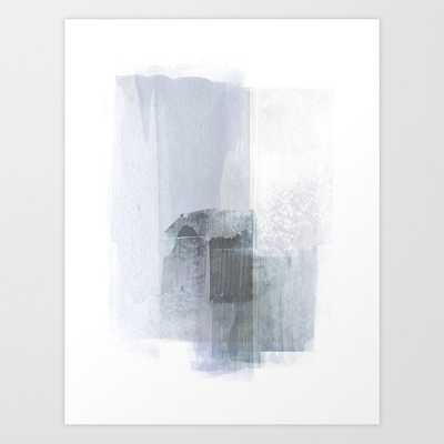 Blue Grey Minimalist Abstract Painting Art Print - Society6