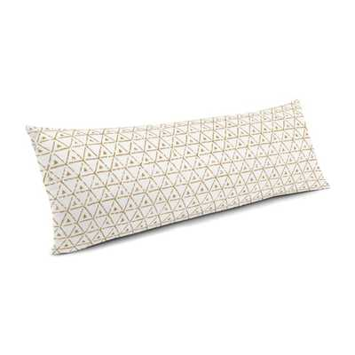 Large Lumbar Pillow - Give it a Try Tan - Down Insert - Loom Decor