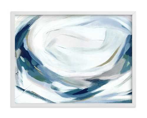 "Abstract Laurel - 24"" x 18"" - Classic White Frame - Minted"