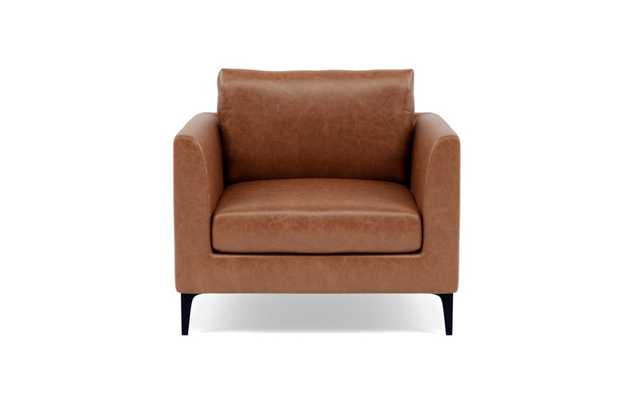 Owens Leather Accent Chair - Pecan Pigment-Dyed Leather - Interior Define