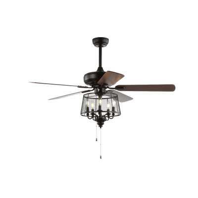 Croteau 5 Blade Ceiling Fan, Light Kit Included - Wayfair