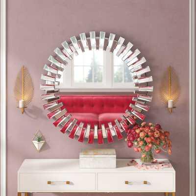 Deniece Sunburst Round Wall Mirror - Wayfair
