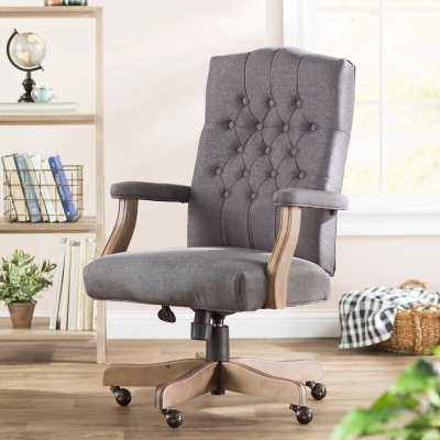 Three Posts Jorden Executive Chair in Slate Gray - Wayfair