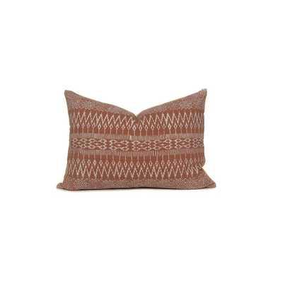 Rust Batik Lumbar Pillow Cover | No4092 - Etsy
