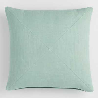 Jadeite Herringbone Cotton Throw Pillow by World Market - World Market/Cost Plus