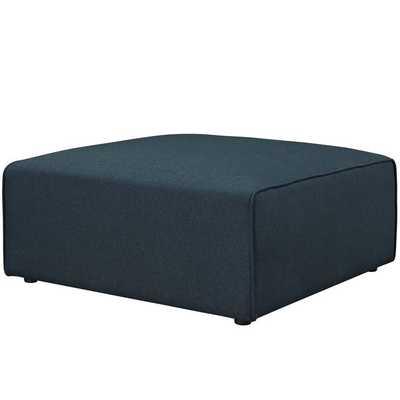 MINGLE FABRIC OTTOMAN IN BLUE - Modway Furniture