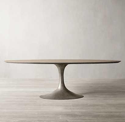 AERO OVAL DINING TABLE - RH