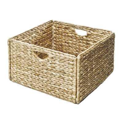 Woven Foldable Hyacinth Wicker Basket - Set of 2 - Wayfair