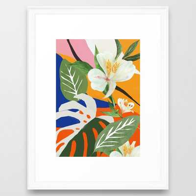 Garden - Abstract Art Framed Art Print - Society6