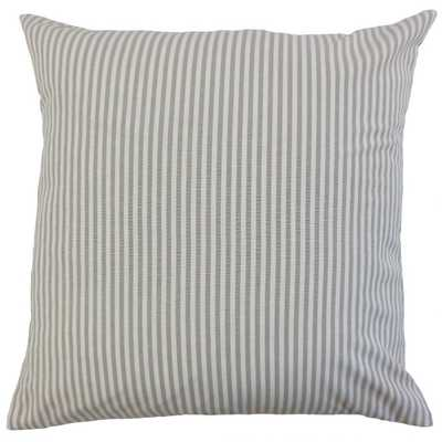 IRA STRIPES PILLOW SLATE, Pillow Cover Only - Linen & Seam