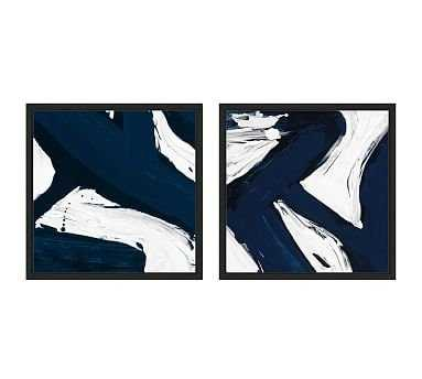 Modern Abstract Canvas, Set of 2 - Pottery Barn