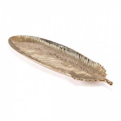 Gold Feather Lg Gold - Zuri Studios