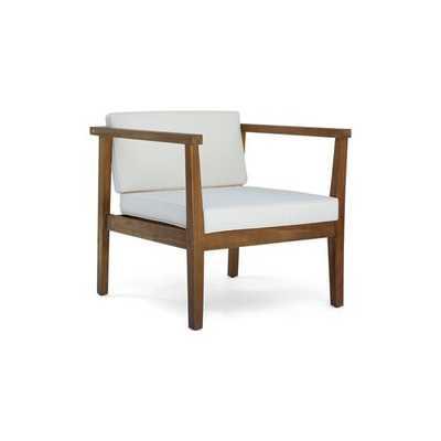 Adalhard Teak Patio Chair (Set of 2) - AllModern