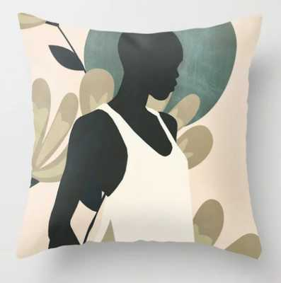 Tropical Girl 9 Throw Pillow - Society6