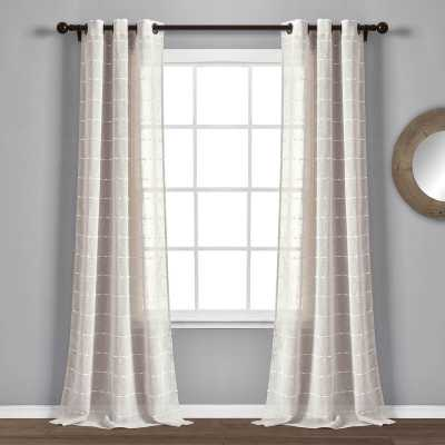Enid Textured Sheer Grommet Panel Pair - Wayfair